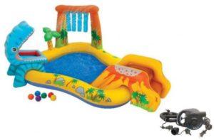 افضل مسبح اطفال نفخ بلاستيك وكيفية الاختيار inflatable pool -57444-لعبة-مائية-و-مسبح-اطفال-قابل-للنفخ-و-زحليقة-مع-منفاخ-هواء-كهربائي-220-فولت-300x197
